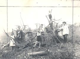 Kasdorf Family with uprooted tree