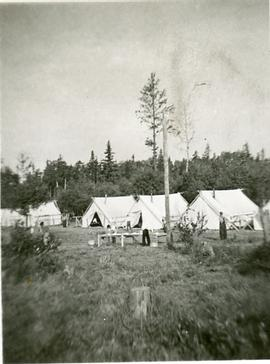 A few tents in the camp