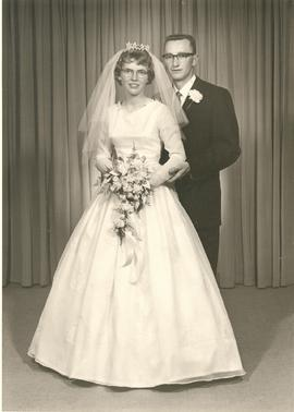 Wedding Portrait of Neil Voth and Helga Dueck
