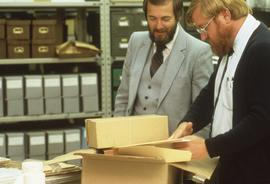 Roy and Ken in the archives