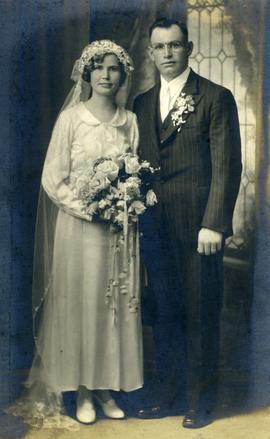 Anna and Jacob, wedding portrait