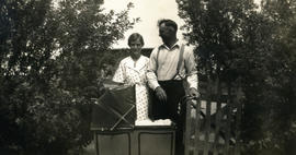 Anna and Jacob with Lennie's carriage