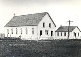 Winkler MB Church - The small building is the Burwalde MB Church