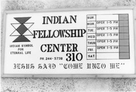 """Indian Fellowship Center"" sign"
