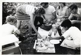 Group of people having a picnic