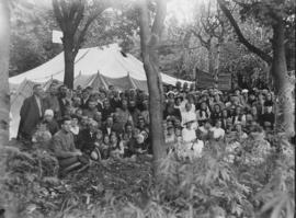 Dedication of the first tent of the Tent Mission begun by Tina and Jakob Dyck