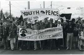 """Youth For Peace"" banner."