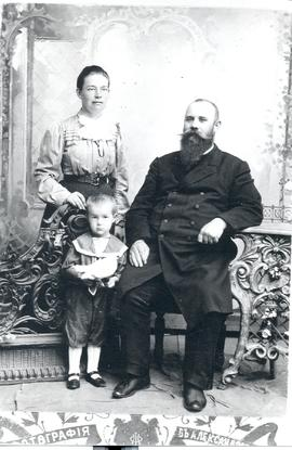 Missionary Abraham Friesens with adopted son Aaron