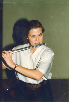 Concord student playing flute
