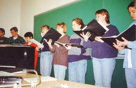 Concord Colelge Students in music class