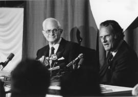 Billy Graham in a press conference