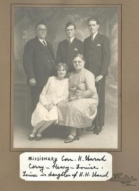 Mr. & Mrs. Cornelius H. Unruh with their family