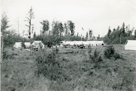 View of a campground from a field