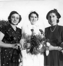 Bride and two young women