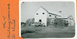 Building rooms onto the church for school