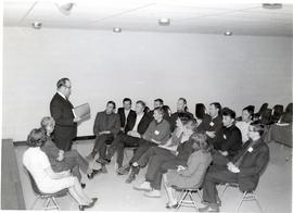 William Snyder addressing trainees from Poland