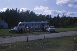 Bus leaving Camp Arnes