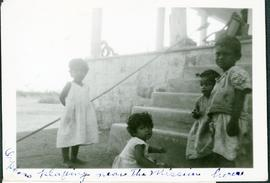 Orphans playing near the Mission house