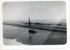 Sailboat on the Suez Canal