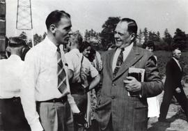 H.H. Janzen  &  Ray Schlichting at 1948 Canadian Conference, St. Catharines