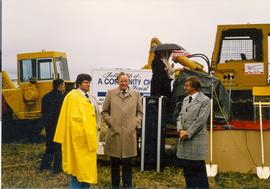 Sod-turning ceremony.