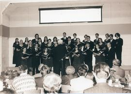 Choir directed by Rudy Baerg