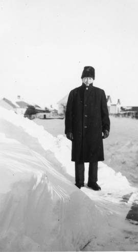Photograph of Abraham A. Huebert on a tour in Western Canada