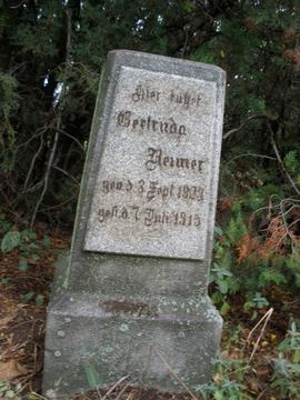 Tombstone for Geetruda Reimer
