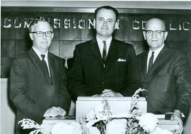 General Conference Executive - 1966.  Marvin Hein, F.C. Peters, H.H. Voth