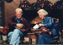 Billy and Ruth Graham Christmas photo