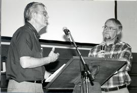 Harold Jantz and Dan Block at the mic