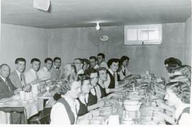 Ontario Bible School students at a meal