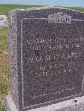 August G. A. Liebig tombstone.