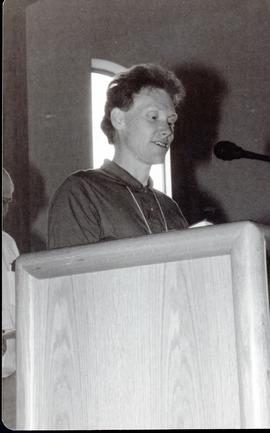 André Bourque speaking
