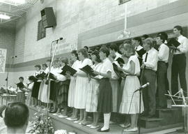 The Celebration Choir sings.