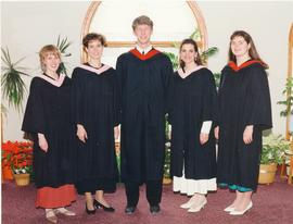 A group photo of degree graduates, Concord College 1994