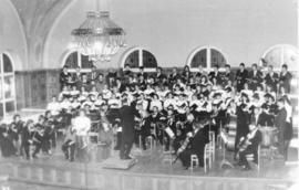 Music- Orchestra and choir performing