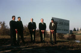 Sod turning at Conrad Grebel College in 1963