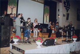 Worship Band, Kevin Peters (front left)