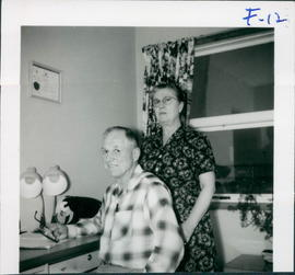 Mr. & Mrs. Henry R. Friesen, housparents in charge of Home