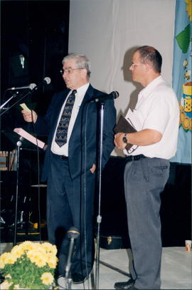 Moderator Harvey Plett, Pastor Jacob Enns of Tilbury, Ont.