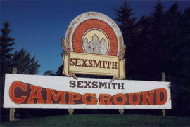 Sexsmith AB sign, town where Convention was held at Peace River Bible Institute