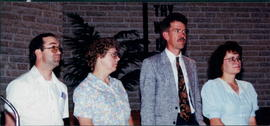 Terry and Mary Ann Smith and Peter & Trudy Dueck at Missionary Presentation
