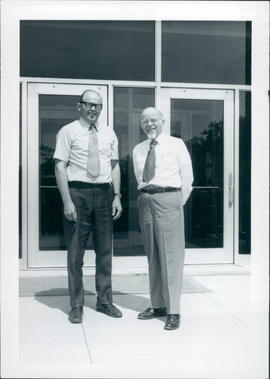 D. K. Schellenberg (left) and Dr. Donald McGarvin at the Seminar
