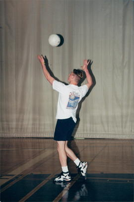 player with volleyball