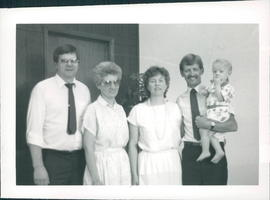 Edwin & Lil Friesen, Becky & John Hiebert and son Christopher