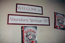 banner: Welcome to Abundant Springs '97!