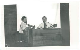 Peter Wiebe and Martin Giesbrecht singing