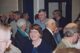 Elvira Hamm (foreground, centre), Edwin Friesen behind her
