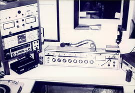 Broadcast console and other equipment at ZP-30 - 3 photos